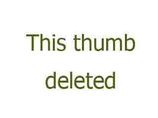 Horny blonde girl exercises naked in a locker room