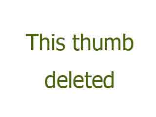 Blonde in Leather Tights Busting Balls